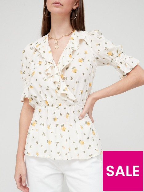 v-by-very-ruffle-wrap-top-white-floral