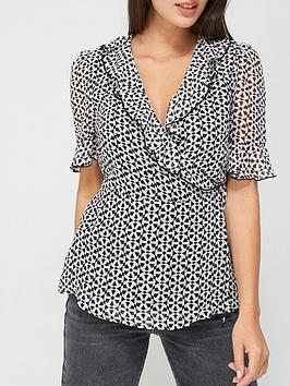 v-by-very-frill-wrap-woven-blouse-geo-print