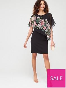 wallis-water-lily-overlayer-dress-black