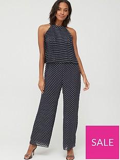 wallis-pleated-spot-overlayer-jumpsuit-ink