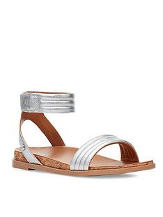 ugg-girls-ethena-sandal-silver