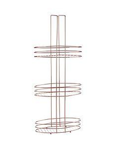 premier-housewares-copper-plated-3-tier-storage-rack