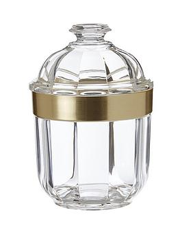 premier-housewares-small-acrylic-canister-with-rose-gold-finish