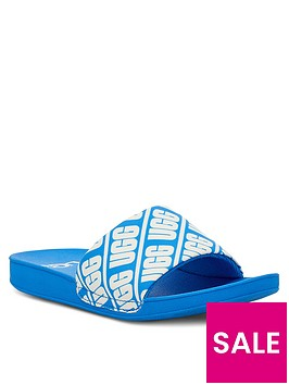 ugg-logo-beach-sliders-blue
