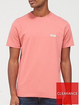 nudie-jeans-daniel-logo-t-shirt-pink