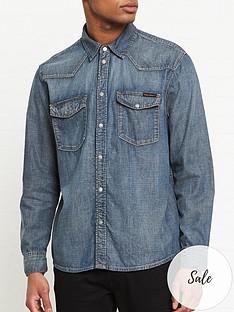 nudie-jeans-george-denim-shirt-dark-blue