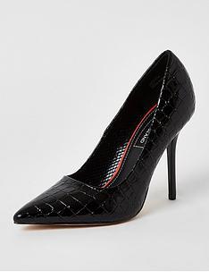 river-island-court-shoe-black