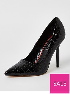 river-island-court-shoe-black