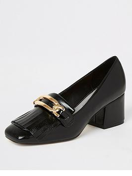 river-island-river-island-snaffle-detail-heeled-loafers-black