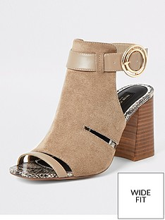 river-island-wide-fit-cut-out-buckle-shoe-boot-taupe