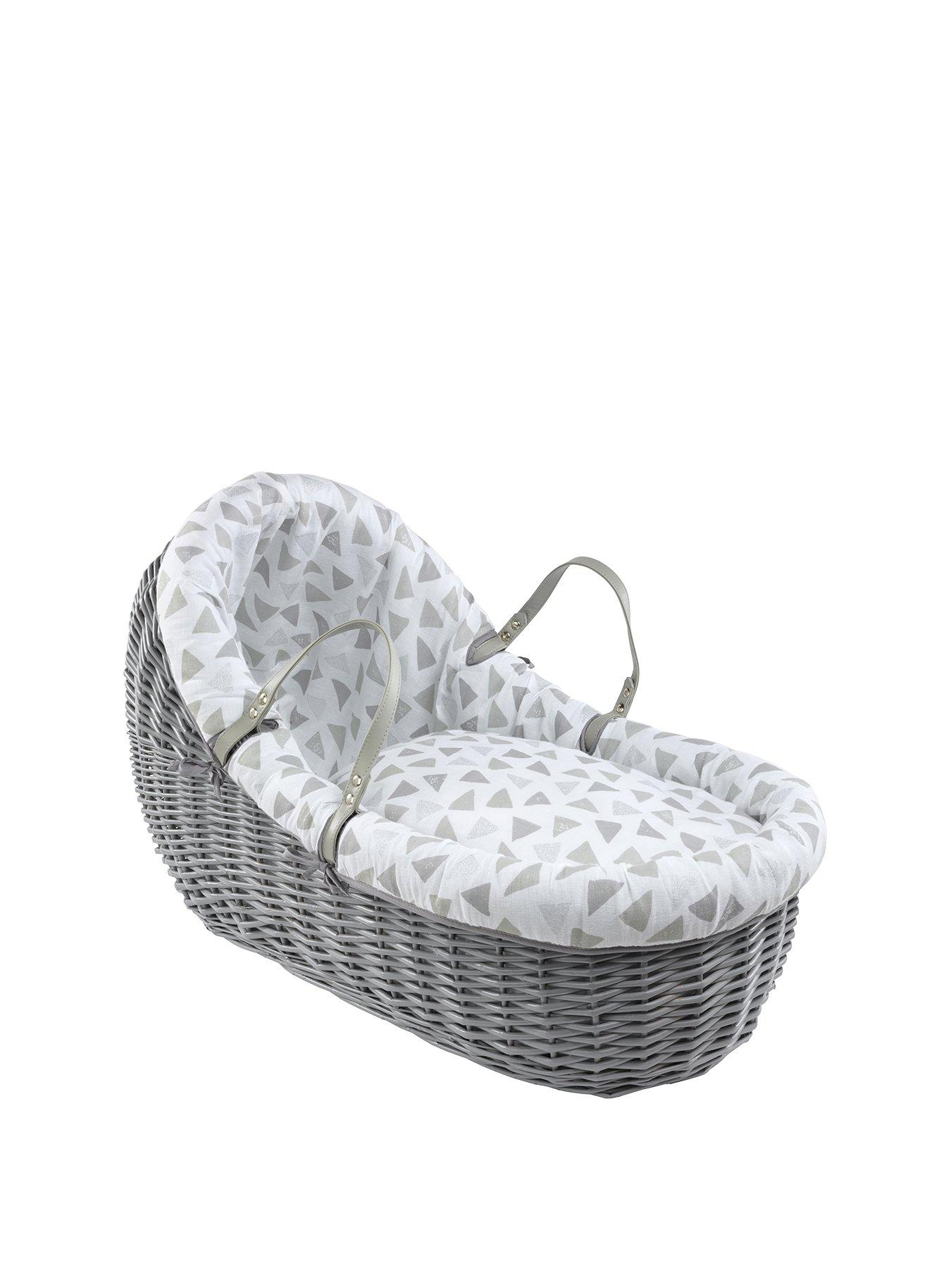 74 X 30 X 3.5 cm Fully Breathable Quilted Moses Basket//PRAM Oval Shaped Bassinet Soft Mattress Size