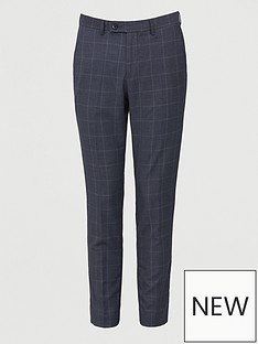 v-by-very-regular-fit-check-trouser-navy