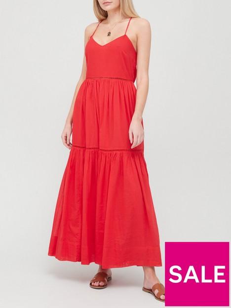 v-by-very-ladder-trim-parachute-dress-red