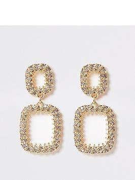 river-island-river-island-chain-ball-wrap-dangle-earrings-gold