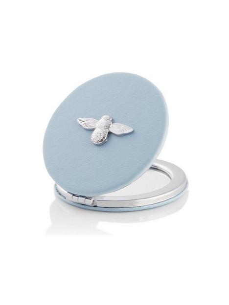 olivia-burton-3d-bee-compact-mirror-chalk-blue-silver