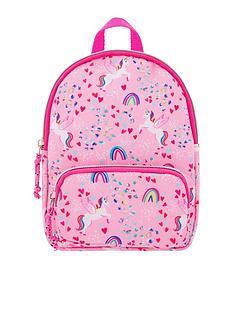 accessorize-girls-retro-unicorn-printed-mini-backpack-pink