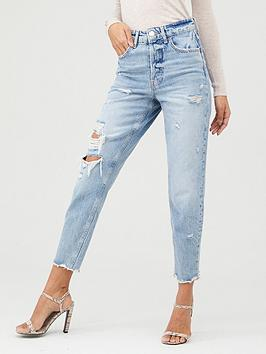 river-island-river-island-high-rise-ripped-washed-mom-jean--mid-wash