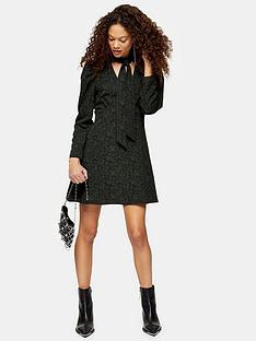 topshop-petite-mini-shirt-dress-khaki