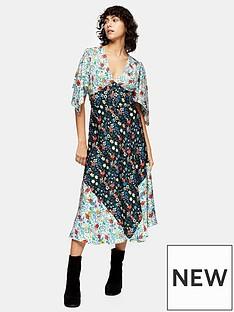 topshop-idol-mixed-print-midi-dress-multi