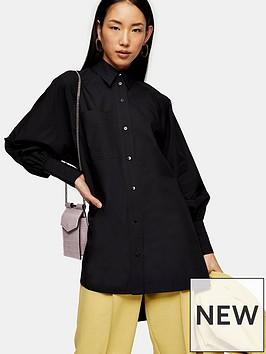 topshop-oversized-poplin-shirt-black