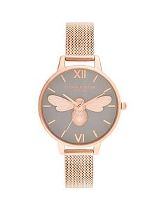 olivia-burton-olivia-burton-lucky-bee-grey-dial-and-rose-gold-mesh-watch