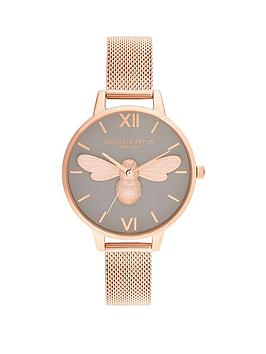 olivia-burton-olivia-burton-lucky-bee-grey-dial-and-rose-gold-mesh-watch