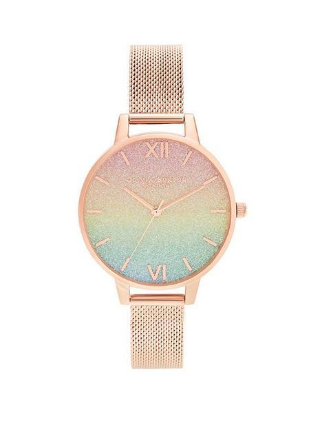 olivia-burton-rainbow-glitter-dial-and-rose-gold-mesh-bracelet-watch