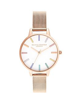 olivia-burton-rose-gold-mesh-watch