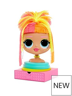lol-surprise-lol-surprise-omg-styling-head-neonlicious-with-stick-on-hair-for-endless-styles