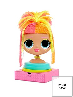 lol-surprise-omg-styling-head-neonlicious-with-stick-on-hair-for-endless-styles