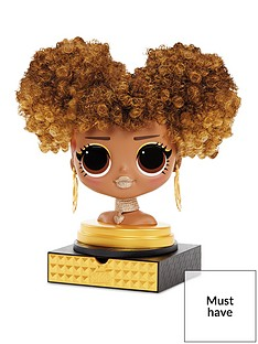 lol-surprise-omg-styling-head-royal-bee-with-stick-on-hair-for-endless-styles