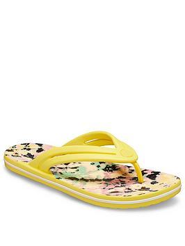 crocs-crocband-tie-dye-mania-flip-flop-yellow