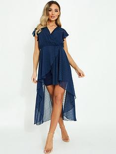 quiz-quiz-dobby-mesh-wrap-front-midi-dress-navy