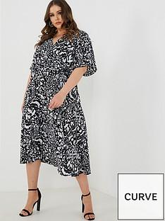 quiz-curve-quiz-curve-black-and-cream-leopard-print-wrap-dress