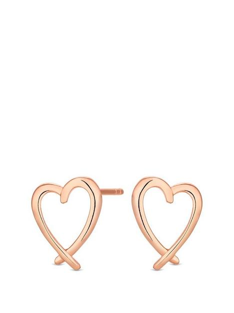 simply-silver-sterling-silver-14ct-rose-gold-plated-heart-earrings