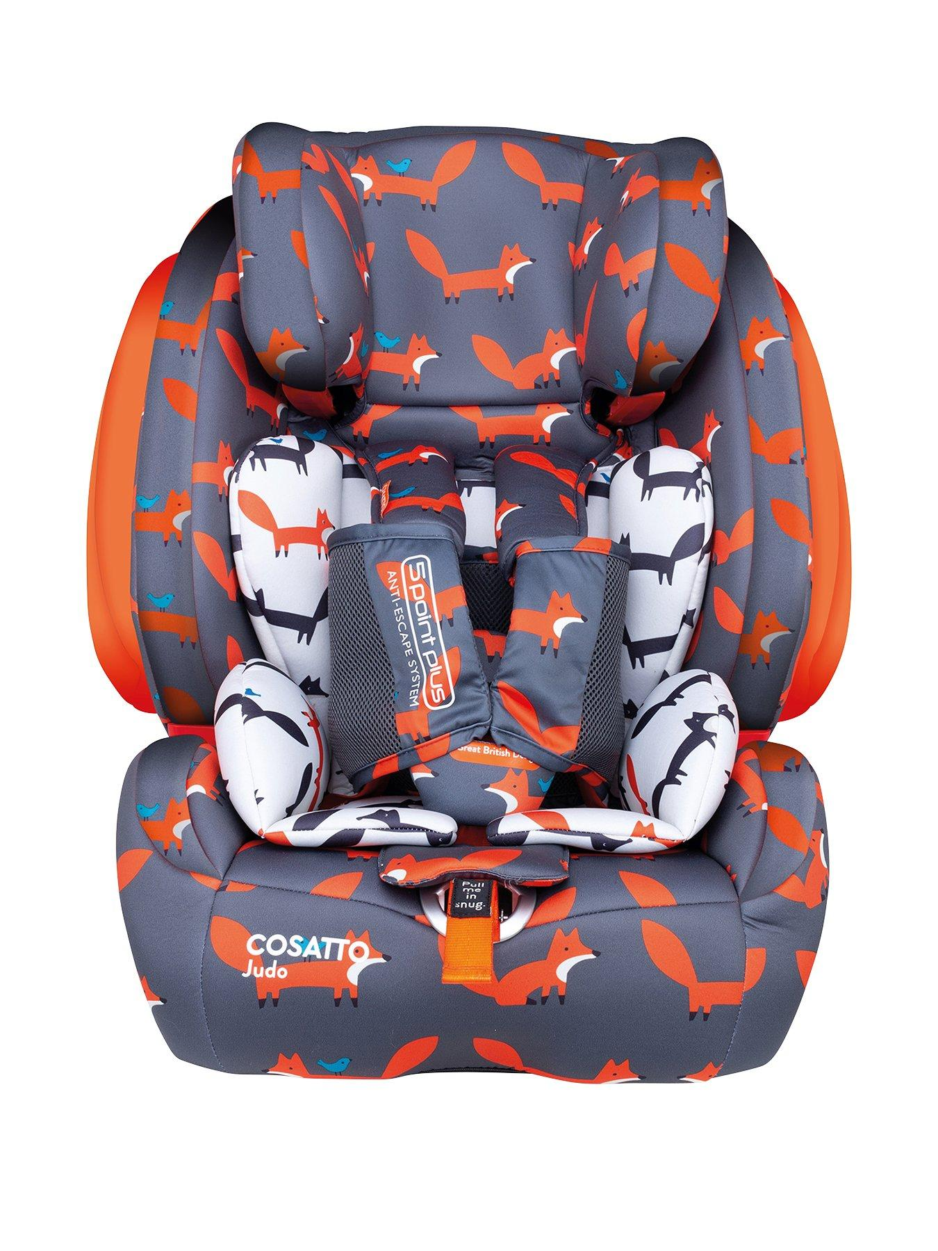 Nania Childs Car Seat Forward Facing 9m to 4yrs Recliner In ORANGE BRAND NEW