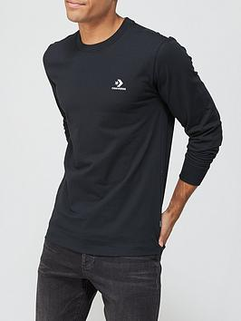converse-embroidered-star-chevron-left-chest-long-sleeve-tee-black