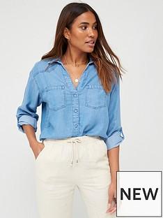 v-by-very-valuenbspsoft-touch-denim-casual-shirt-denim