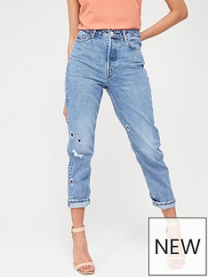 v-by-very-mom-nibbled-vintage-rip-jeans-mid-wash