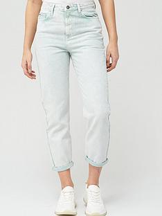v-by-very-high-waist-acid-wash-mom-jean-mint