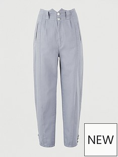 v-by-very-high-waist-barrel-leg-trouser-grey