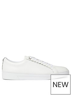 ted-baker-tillys-scalloped-edge-trainer-white