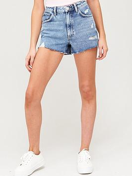 v-by-very-distressed-denim-shorts-mid-wash
