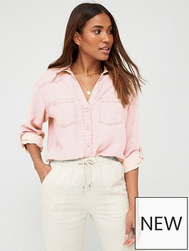 v-by-very-valuenbspsoft-touch-casual-shirt-pink