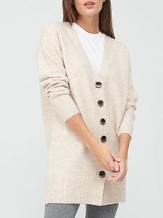 v-by-very-longline-button-up-cardigan-oatmeal