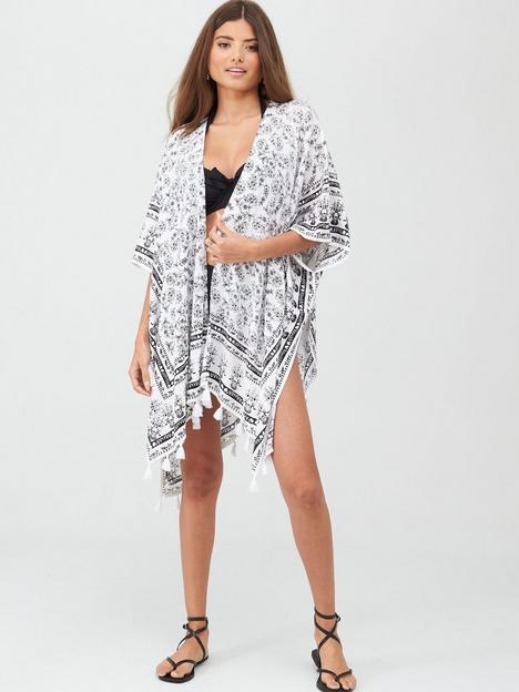 pour-moi-bohemia-scarf-print-kimono-whiteblack