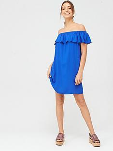 pour-moi-textured-bardot-beach-dress-blue