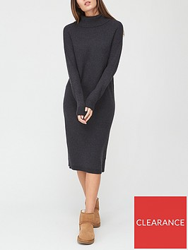 v-by-very-roll-neck-relaxed-fit-knitted-dress-charcoal-marl