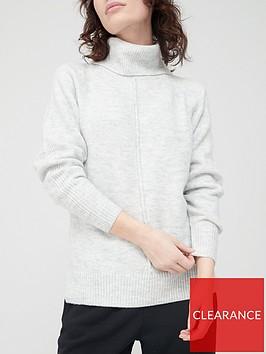 v-by-very-front-seam-detail-roll-neck-jumper-light-grey-marl