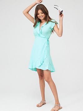 pour-moi-textured-frill-wrap-beach-dress-mint